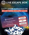 Réservation LIVE ESCAPE BOX